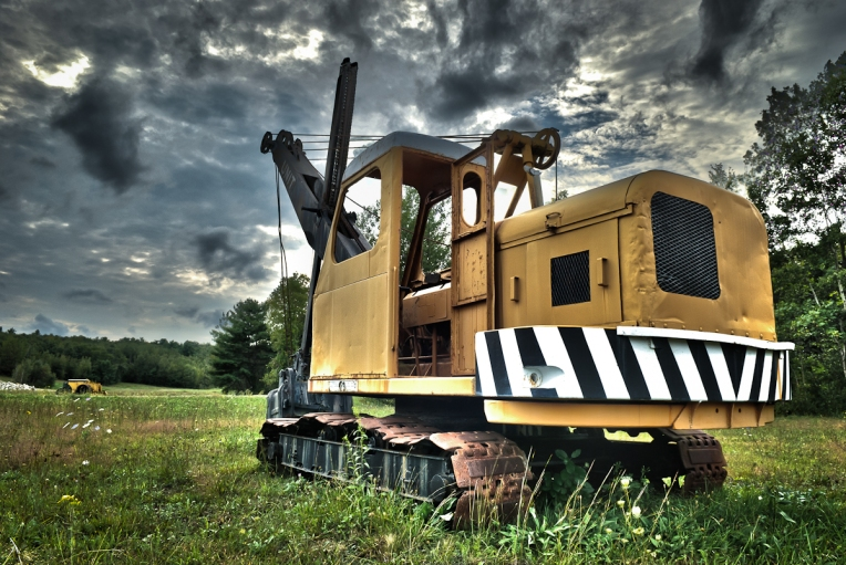 rusty steam shovel