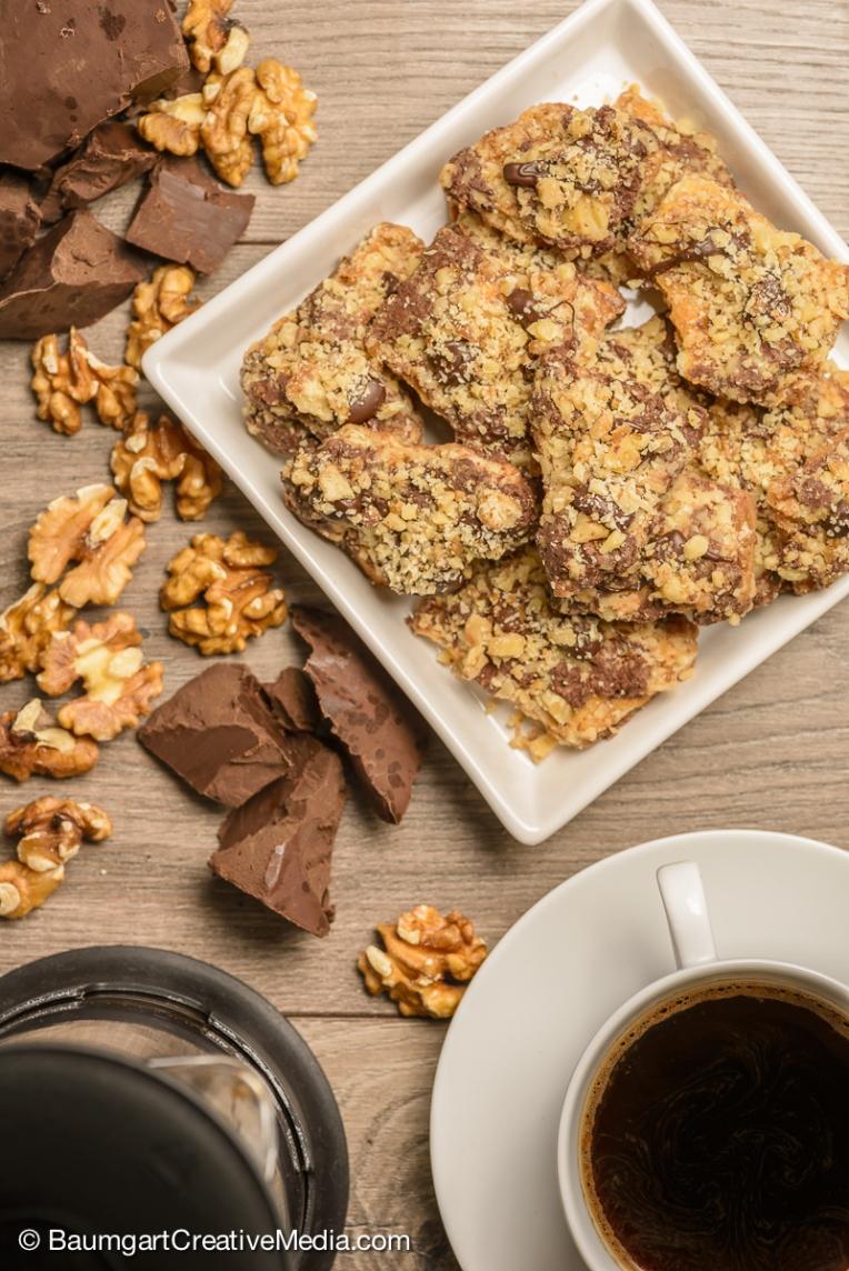 Chocolate food photography by Baumgart Creative Media.