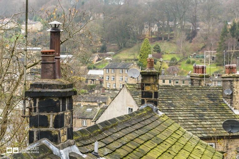Old Rooftops in Yorkshire England by Jeff Baumgart