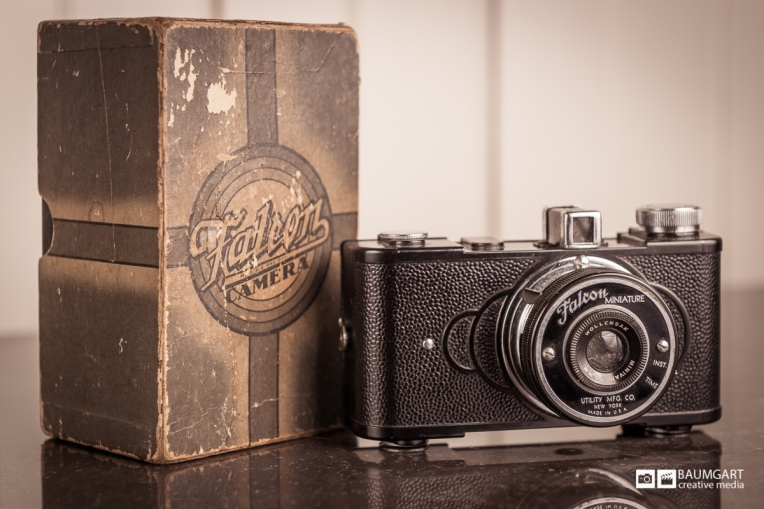 Falcon Miniature vintage camera photographed by Jeff Baumgart